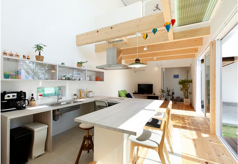 ソラマドの家 人気のコの字キッチン 三建ソラマドモデルハウス